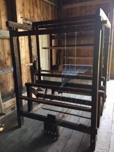 Barn Frame Loom inside the Harrington Barn